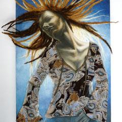 """""""Me and my Music"""", Mischtechnik auf Holzkorpus, 115 x 75 x 4 cm"""