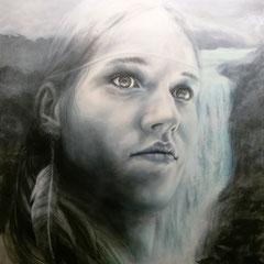 """""""Klarheit"""", Serie """"ungeschminkt"""", Acryl auf Leinwand, 120 x 80 x 4 cm"""