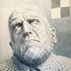 """""Kleinkariert"", Serie ""ungeschminkt"", Acryl auf Leinwand, 100 x 80 x 4 cm"