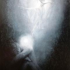 """""""Kleiner Funke Hoffnung"""", Serie """"ÜBER.SINNLICH"""", Acry-/Ölmalerei auf Leinwand, 120 x 80 cm"""