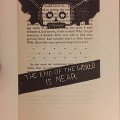 the end of the world is near, linogravure, 16 expl