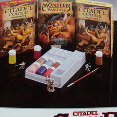 3 citadel paint sets 1987