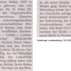 Lüneburger Landeszeitung , 19.2.2014