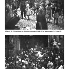Aufständische besetzen die Stasi-Dienststelle und das Rathaus