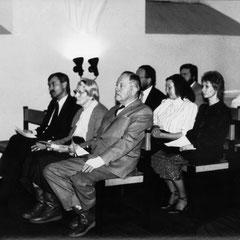 Ausstellungseröffnung am 10.11.1988 im Refektorium des Lutherhauses in Anwesenheit des aus Wittenberg nach Schweden vertriebenen Wolfgang Kolf (*1920 +1992)