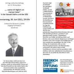 Buchvorstellung im Schlesischen Museum zu Görlitz am 30. Juni 2011