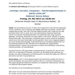 Einladung der Wilhelm-Külz-Stiftung
