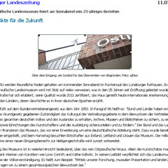 Lüneburger Landeszeitung vom 11.07.2012