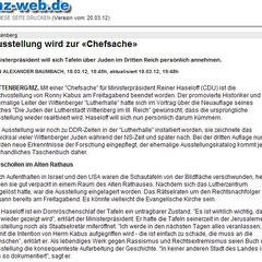 Mitteldeutsche Zeitung, 18.3.2012