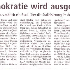 Lüneburger Landeszeitung, 9.9.2011
