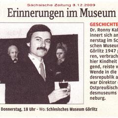 Das Foto zeigt den Autor 1976 in den Städtischen Kunstsammlungen Görlitz