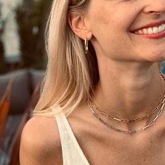 LEPOSA Schmuck Silber Gliederarmband Link vergoldet