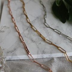 LEPOSA Schmuck Silber Link Gliederarmband rose gelb vergoldet