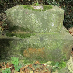 The remains of the grave of Edward William Stubbs