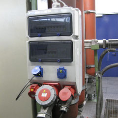 Steckdosenverteiler im Industriebereich