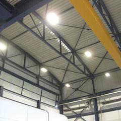 Erneuerung LED –Tiefenstrahler Montagehöhe 12m
