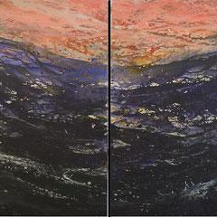 wild ocean, Acryl, 160x120, 2015