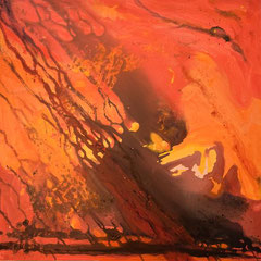 Feuer, Acryl, 80x80 2016
