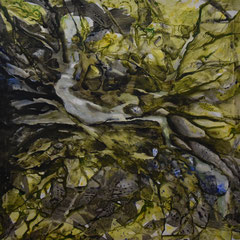 Natur, Acryl a. Polyester, 80x80, 2020