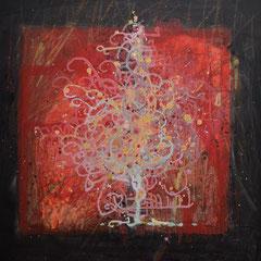 Weihnachtsbaum, Acryl, 80x80, 2016