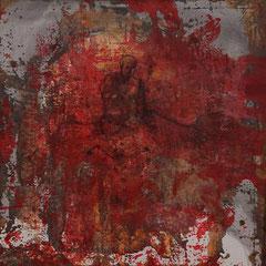 Sitzender, Acryl, 40x40,2016