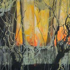 Wald?, Acryl, 80x320, 2014