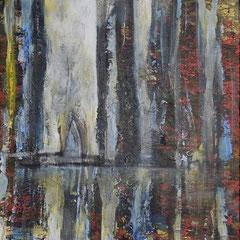 Spiegel, Acryl, 50x50, 2015