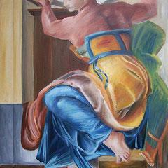 Kopie Zwischenstand von mir (Ölmalerei auf Leinwand, Farben neu interpretiert)