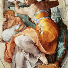 Das Original (Quelle: Ludwig Goldscheider, Michelangelo, 3.Aufl. 1956, Hrsg. Phaidon-Verlag) ist das weltberühmte Deckenfresko der Lybischen Sibylle in der Sixtinischen Kapelle im Vatikan/Rom von Michelangelo, die ich mir life angeschauen konnte
