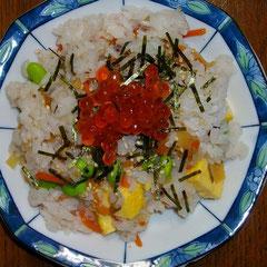 ちらし寿司  これ夕飯。