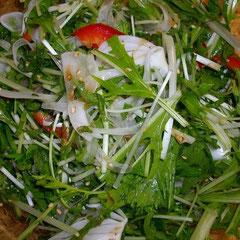 水菜サラダ  昼