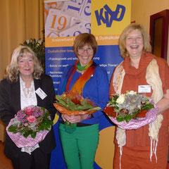 Referentinnen der Fachtagung am 26.10.2013: Frau Prof. Dr. Evelin Witruk, Uni Leipzig; Frau Anke Bendorf-Schneider, Grundschul- und Beratungslehrerin; Frau Dr. Gisela Schimansky, Kinder- und Jugendpsychiaterin, Hannover (von links nach rechts)