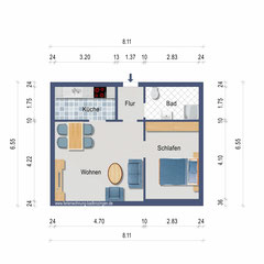 floor plan of the Ferienwohnung Ruppenthal