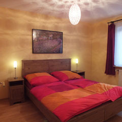 Double bed 160 x 200 cm in the holiday partment