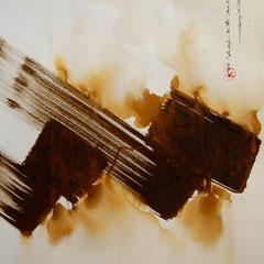 le parfum du thé , saunier ,so ,abstrait ,encres