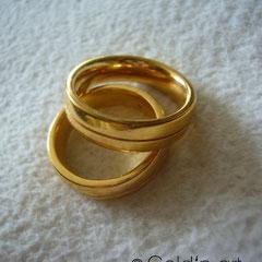 Ringe mit Feingold vergolden