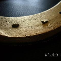 Hufeisen - vergoldet Used Look