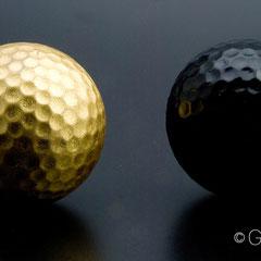 Golfball vergoldet