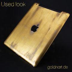 iPad 2 vergolden im Used-Look