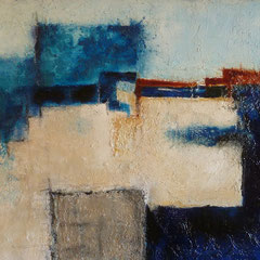 C. Geil: Abstract Landscape, 2009, mixed media on canvas, 180 x 80 cm