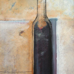 B. Spanblöchel: Black Bottle, 2006, acrylic paint on canvas, 60 x 80 cm
