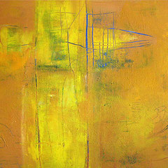 B. Spanblöchel: Jaune, 2005, acrylic paint on canvas, 100 x 80 cm