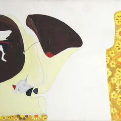 Liver Crane, 2002, acrylic paint on canvas, 55 x 120 cm