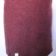 #419 Wickelrock Rosenholz gefilzt, mit Knöpfen (ohne Gummizug!). Umfang 86 cm, Länge 39 cm. 100% Schurwolle     210,-€