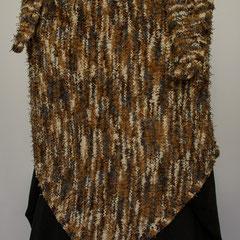 #288 Dreieckstuch grau-braun-natur. 175 cm breit, 72 cm hoch. 100% Polyester   175,-€