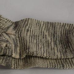 #185 Socken kurz, grau-weiss-meliert. Grösse 39. Baumwolle und Polyester      28,-€