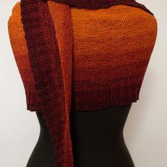 """#441 langes halbrundes Tuch """"Indian Summer"""". 250 cm lang, 34 cm breit. 50% Baumwolle, 50% Polyacryl     185,-€"""