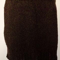 #503 Rock weinrot-moosgrün meliert. Umfang 80 cm, Länge 40 cm.  Wolle und Polyacryl     115,-€