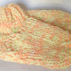 #412 Dicke DICKE Socken gelb, lachs, weiss, grün, 4 Fäden. Grösse 26/27. Polyacryl, Wolle, Mohair     22,-€