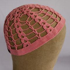 #329 Häkelmützchen rosa. Umfang ~54 cm. 100% Baumwolle     28,-€